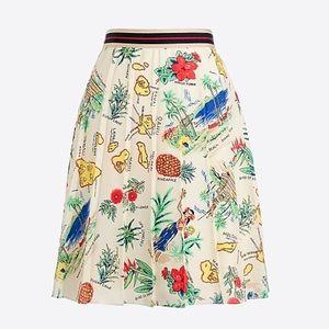 NWT J. Crew HAWAIIAN Print Skirt 0